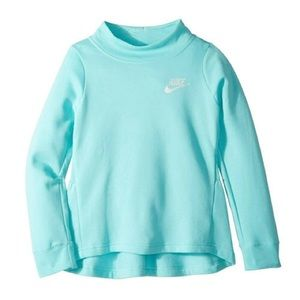 NWOT Nike Girls Pleated Fleece Crew Pullover